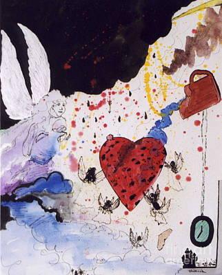 Mixed Media - Saving The Heart by Robin Maria Pedrero