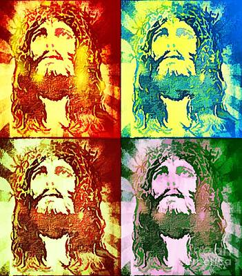 Painting - Savior Faces by Dave Luebbert