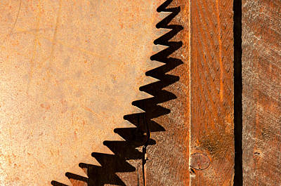 Circular Saw Blade Photograph - Saw Teeth by Jess Kraft
