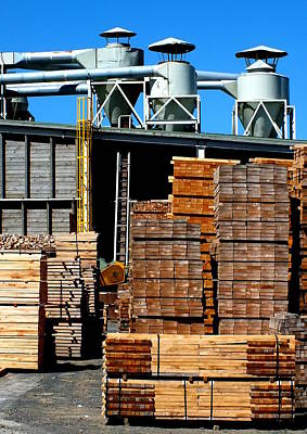 Photograph - Sawmill by Guy Pettingell