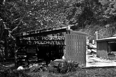 Photograph - Sawmill In Black And  White by John Holloway