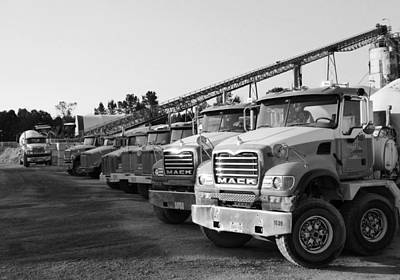 Photograph - Sawmill Trucks 2 by Laurie Tsemak