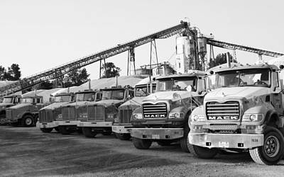 Photograph - Sawmill Trucks by Laurie Tsemak