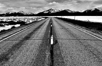Photograph - Sawtooth Highway Black And White by Benjamin Yeager