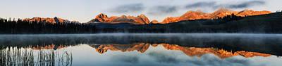 Sawtooth Mountain Range Panorama Art Print