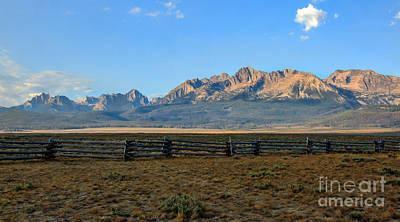 Photograph - Sawtooth Mountains by Robert Bales