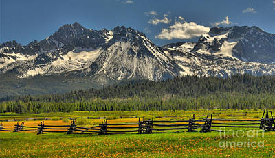 Photograph - Sawtooth Mountains by Sam Rosen