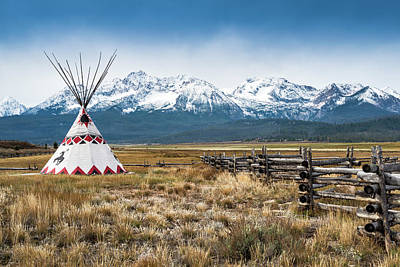 Scenic Photograph - Sawtooth Mountains, Tipi, Stanley by Witold Skrypczak
