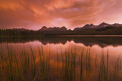 Sawtooth Mountain Art Photograph - Sawtooth Sunset Stanley Idaho by Vishwanath Bhat