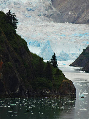 Photograph - Sawyer Glacier Where The Ice Field Flows by Jacqueline  DiAnne Wasson