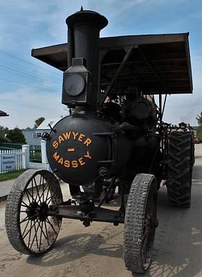 Sawyer Massey Steam Tractor Art Print