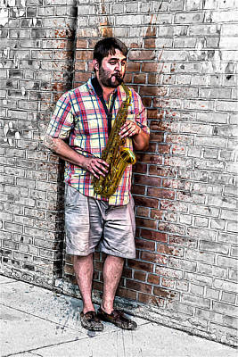 Country Digital Art - Sax In The City by John Haldane