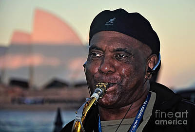 Saxophone Player Photograph - Sax In The City by Kaye Menner