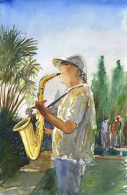 Painting - Sax In The Park by Brian Meyer