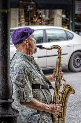 Photograph - Sax In The Street by Jim Shackett