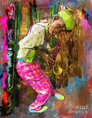 Painting - Sax by Jack Milchanowski