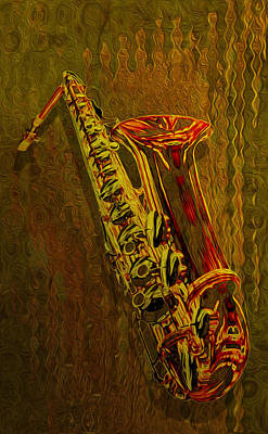 Clarinet Digital Art - Sax by Jack Zulli