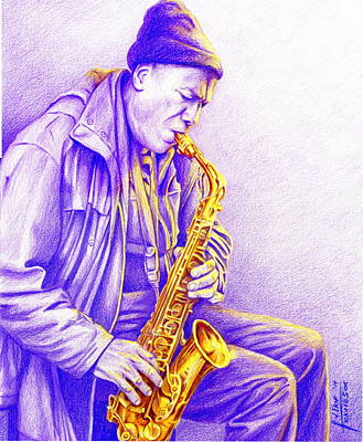 alto sax drawing sax player 1 by john travieso