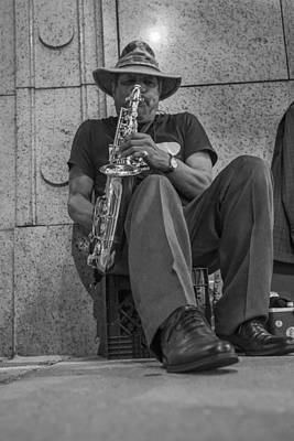 Photograph - Sax Player In Chicago  by John McGraw