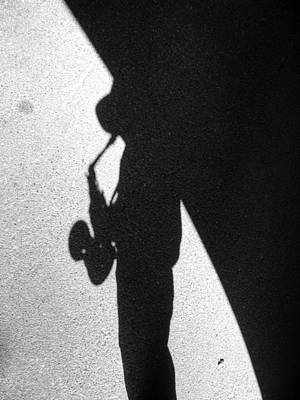 Photograph - Sax Shadow by Dave Beckerman
