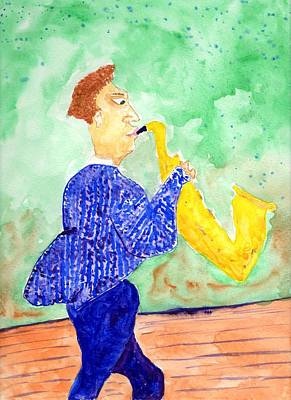 Painting - Saxaphone Malone by Jim Taylor