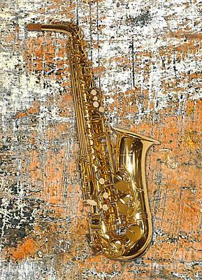 Saxaphones Digital Art - Saxaphone by Marvin Blaine