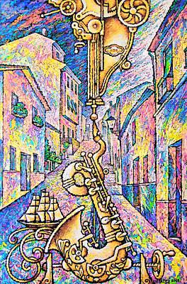 Saxophon Painting - Saxophon by Vitaly Zasedko
