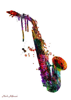 Saxophone 2 Art Print by Mark Ashkenazi