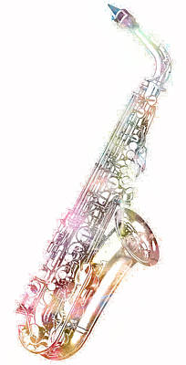 Photograph - Saxophone Art by Athena Mckinzie