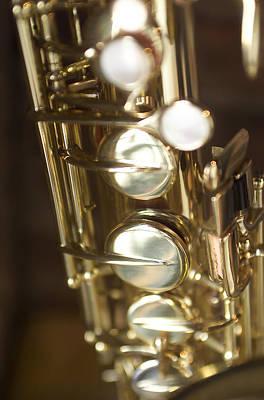 Saxophones Photograph - Saxophone Close Up by Jon Neidert