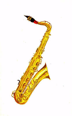 Music Instrument Wall Art - Painting - Saxophone by Michael Vigliotti