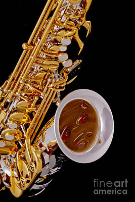 Saxophone Photograph - Saxophone Music Instrument In Color 3266.02 by M K  Miller