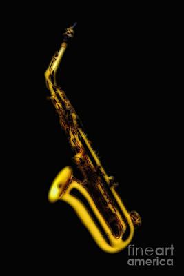 Photograph - Saxophone by Olga Hamilton