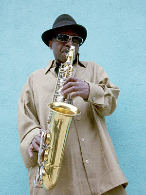 Saxophone Photograph - Saxophone Player, 2010 by Granger
