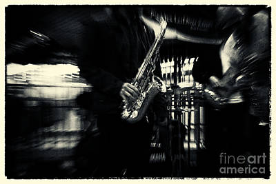Saxophone Player In New York City Art Print by Sabine Jacobs