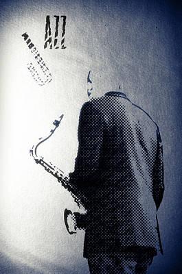 Saxophonist Digital Art - Saxophonist. Jazz Club Poster by Konstantin Sevostyanov