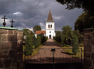 Photograph - Saxtorps Se Church 03 by Jeff Brunton