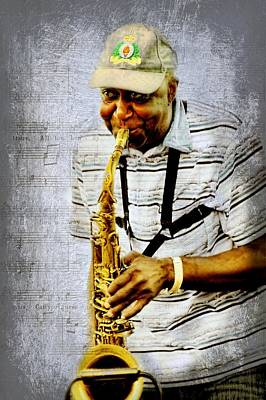 Playing Saxophone Photograph - Saxy by Diana Angstadt