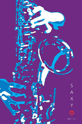 Digital Art - Saxy Purple Poster by David Davies