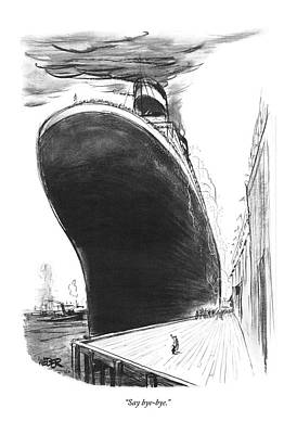Liner Drawing - Say Bye-bye by Robert Weber