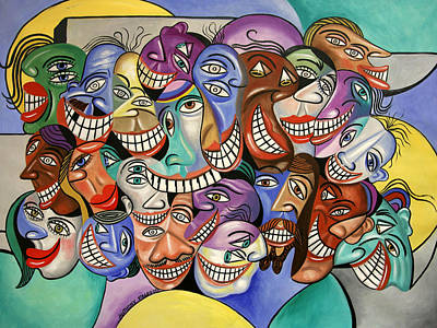 Cubists Digital Art - Say Cheese by Anthony Falbo