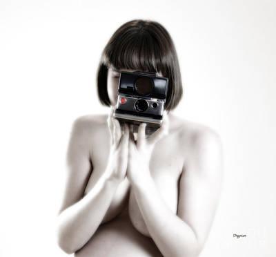 Polaroid Nude Photograph - Say Cheese  by Jacob Smith
