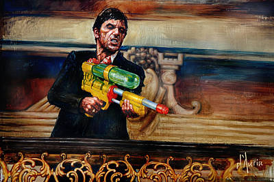 Crime Drama Movie Painting - Say Hello by Tom Dauria