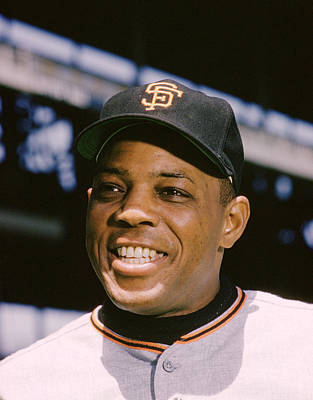 Baseball Uniform Photograph - Say Hey Willie Mays by Retro Images Archive