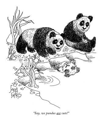 Say, We Pandas Are Cute! Art Print by Joseph Farris