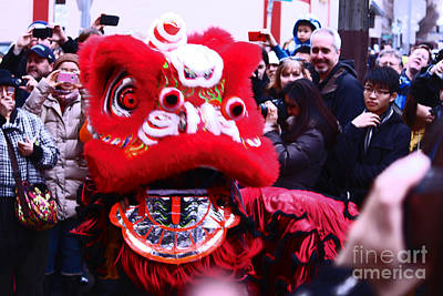 Year Of The Snake Photograph - Say What? Red Lion Talking by Kym Backland