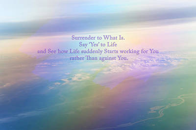 Meaningful Art Photograph - Say Yes To Life by Jenny Rainbow