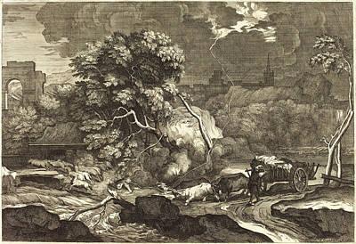Sébastien Bourdon, French 1616-1671, Landscape Art Print by Litz Collection