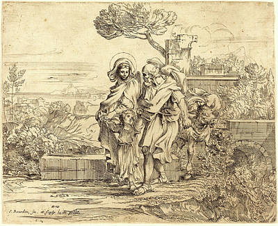 1616 Drawing - Sébastien Bourdon, French 1616-1671, The Rest by Litz Collection