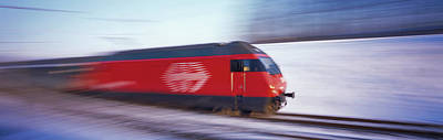 High Speed Photograph - Sbb Train Switzerland by Panoramic Images